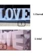 caratteri love con scritta
